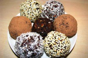 рецепт шоколадных трюфелей с разными посыпками