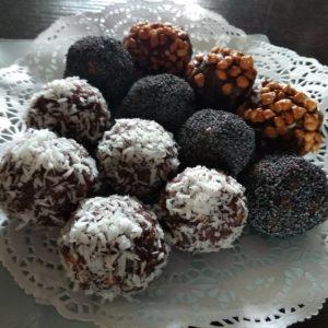 шоколадные шарики с грецким орехом