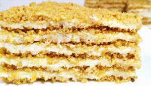 Домашний торт Пломбир без выпечки