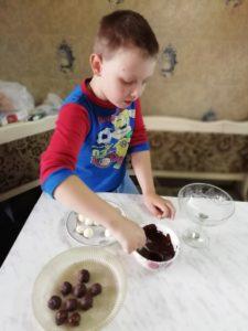 Домашние шоколадные конфеты Баунти процесс приготосления